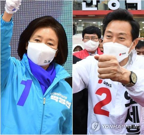 【韓国】最大野党の呉世勲氏59.0% 与党の朴映宣氏37.7%=ソウル市長選出口調査