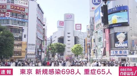 【新型コロナ】東京都、新たに698人感染 4月30日