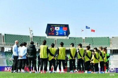 【結果は韓国の負け】韓中戦の前の練習場のスコアボードに「韓国3-1中国」 心理作戦か