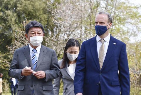 【韓国報道】英日協力関係がさらに強固に 英国で2時間30分の英日外相会談「クアッド」に英国参加か?
