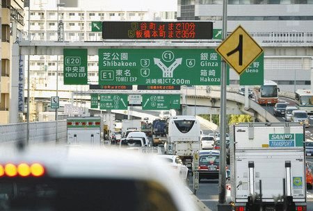 首都高速 1000円上乗せ効果で、渋滞の長さが85%減少