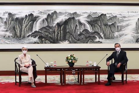 【中共】制裁撤回など是正要求 中国外務省、シャーマン米国務副長官に