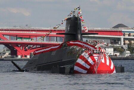 【海上自衛隊】新型潜水艦「はくげい」進水 たいげい型2番艦、23年就役